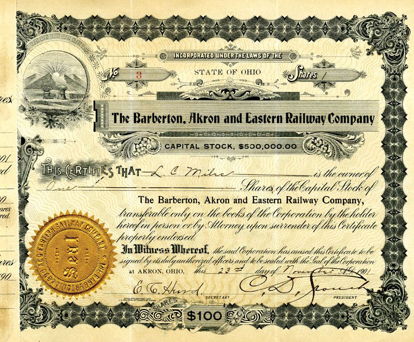 Barberton, Akron and Eastern Railway Co