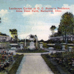 Landscaped Garden at Barber's Residence on his Anna Dean Farm in Barberton, Ohio