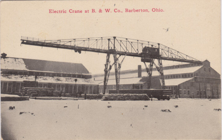 Babcock and Wilcox Electric Crane