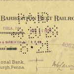 1928 check written by and to the Akron Barberton Belt