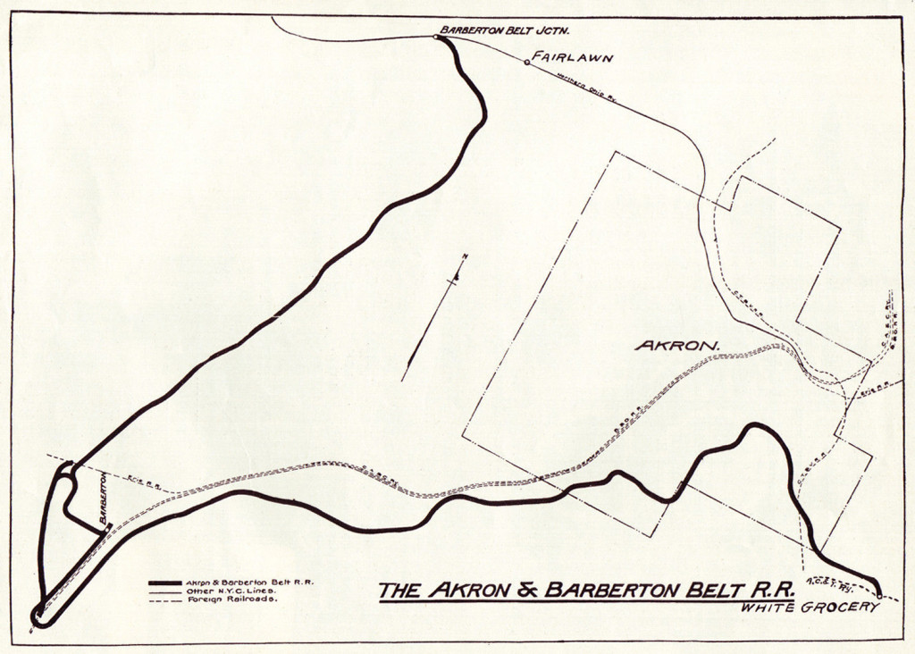 Akron & Barberton system map from 1915.