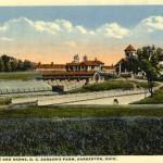 View of bridge and barns, O. C. Barber's Farm