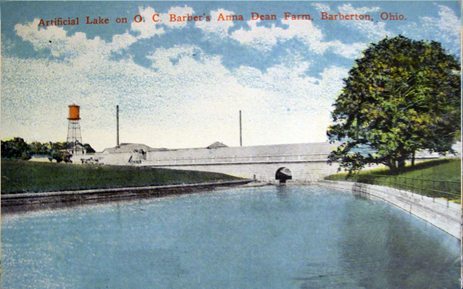 Artificial Lake on O. C. Barber's Anna Dean Farm, Barberton, Ohio.