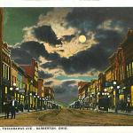 Night Scene, Tuscarawas Ave, Barberton, Ohio.