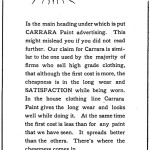 1903 Carrara Paint ad by South Carolina distributors