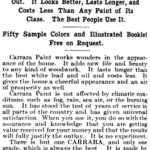 1905 Carrara Paint Company ad from the Christian Advocate