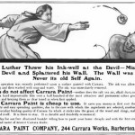 1906 Carrara Paint Company advertisement from Country Life Magazine