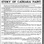 1906 Carrara Paint ad from Florida